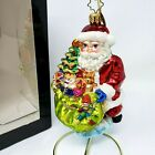 Christopher Radko Deluxe Delivery 01-CB-6 Santa Claus Ornament 2001 Toy Sack