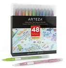 ARTEZA TwiMarkers Brush Pens Set of 48 Colors Dual Tip Markers NEW