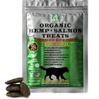 Organic Hemp and Salmon Treats for Dogs Turmeric  Glucosamine 60 Soft Chews
