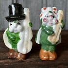 Bug Salt  Pepper Shakers JAPAN Instruments Bass Fiddle Violin Mandolin Guitar