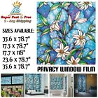Frosted Stained Glass Window Film Covering Vinyl Decorative Static Cling Sticker