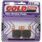 Front/Rear Disc Brake Pads for Italjet Dragster D50LC 2004 50cc  By GOLDfren