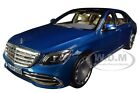 2019 MERCEDES MAYBACH S 650 METALLIC BLUE 1 18 DIECAST MODEL CAR BY NOREV 183425