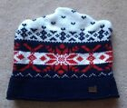 GAP Snowflake Winter HAT CAP, Kids Size S/M Red White & Blue, Inside Sweatband