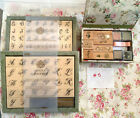 Anna Griffin Rubber Stamps Wood and foam mounted Gift Sets Lot 5