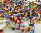 Glass Beads for Jewelry Making 72 inches of solid and stripe beads