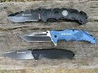 MARINES USMC Pocket Knives LOT of 3  New in Box  Spring Assist  4