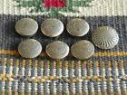 7 VINTAGE NATIVE AMERICAN STERLING SILVER BUTTON COVERS