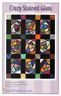 Crazy Stained Glass Block Quilt Pattern Beginner Level Foundation Piecing