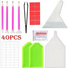 40x 5D Diamond Painting Tools and Accessories Kits Embroidery Box Adults or Kids