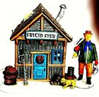 'Frigid Fish' Ice Fishing Shack Lighted 2001 In Box Lemax Village Collection