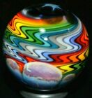 FAKHAR ART GLASS MARBLE 1075 ABSTRACT RAINBOW DREAM WIG WAG ABSTRACT DESIGN