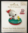 Hallmark WINTER FUN WITH SNOOPY 14 in the Series Miniature Dated 2011