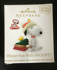 Hallmark WINTER FUN WITH SNOOPY 15 in the Series Miniature Dated 2012
