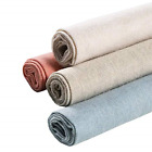 4 Colors Natural Linen Fabric Solid Colored Embroidery Fabric Cross Stitch Aida