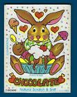 Vintage 80s Sticker Illuminations Scratch  Sniff Chocolate Bunny