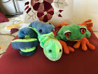 Lot of 3 Retired Ty Beanie Babies – Reptiles  –  Squirmy, Panama, Hissy