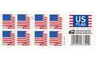 ONE BOOK OF 60 U.S. FLAG 2018 USPS FIRST CLASS FOREVER POSTAGE STAMPS #P1111 !