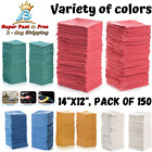 Shop Towels Cleaning Rags Home Office Cloth Natural Cotton 14x12 Pack Of 150