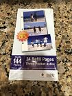 Photo Album 24 Refill Pages Three Pocket 4 6 Holds 144 Photos NEW