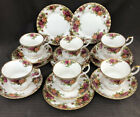 ROYAL ALBERT OLD COUNTRY ROSE Trios X 6 CupsSaucers Plates