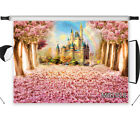 Fairy Castle Backdrop Pink Flower Tree Background Photo Photography Studio Props