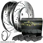 Fit BMW 550i xDrive, 650i xDrive Rear Drill Slot Brake Rotors+Ceramic Brake Pad
