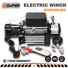 X BULL 12000LBS 12V Electric Winch Towing Truck New Remote Steel Cable 4WD