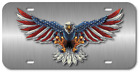 American Flag Eagle Vehicle Plastic License Plate Front Auto Usa Made Car Truck
