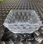 Tiffany and Co Crystal Glass Square Candy Dish Basket Weave 4