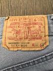 Vintage Made In USA LEVIS 501 0656 Denim Jeans Actual 36 x 32 Faded Worn