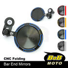Folding Handle Bar End Mirrors Rearview For Suzuki GSX-S1000/750/125 SV650 /ABS