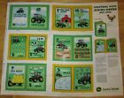 JOHN DEERE TRACTOR COUNTING SOFT BOOK QUILT PANEL FABRIC NEW 100 COTTON