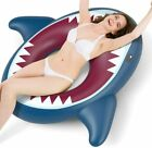 Inflatable swimming pool shark float perfect pool party toy for kids and adults