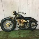 Hanging Metal Folk Art Style Motorcycle Harley Davidson Indian Metallic Man Cave