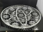 Anchor Hocking Crystal Glass Star of David Prescut Serving Cake Platter EAPC