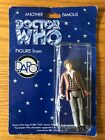 Dapol Doctor Who Figure Fourth 4th Doctor Tom Baker Blue Card 1996  MOC