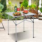 Costway Roll Up Portable Folding Camping Square Aluminum Picnic Table W Bag 27
