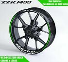 Kawasaki ZZR 1400 SX Wheel Decals Rim Stickers ZZR1400 ZX14R