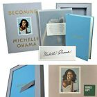 MICHELLE OBAMA SIGNED COPY Becoming Book Box Gift Set Autograph 1st Edition