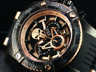 Invicta Men's 52mm Limited Ed. Marvel Bolt Punisher Chronograph Black IP Watch