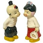 Vintage Kissing Boy And Girl Japan Salt And Pepper Shakers