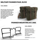 Royal Enfield Classic 350&500cc Pannier Military bag Pair with Fitting Frame Dis
