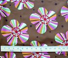 Retro Flower Power Fabric 6 Yards Bulk Floral Disco 70s 60s Unbranded Bright