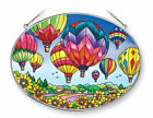 Hot Air Balloons Sun Catcher AMIA Large Oval 9 Long Up and Away New Glass