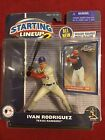 Ivan Rodriguez Texas Rangers 2001 Starting Lineup 2 Figure And Card