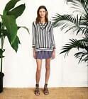 Tory Burch Gina Tunic Awning Stripes Pullover Sweater S NWT 350 Top 4