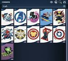 Topps Marvel Collect CRAFTED PAPER 10 Card Set + Award