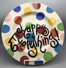 2008 COTON COLORS HAPPY EVERYTHING LARGE MULTI COLOR POLKA DOT PLATTER EXCELLENT