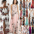 Womens Summer Boho Floral Maxi Dress Holiday Beach Party Casual Long Sundress US